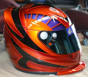 Airbrushed Helmet - Graphics!!
