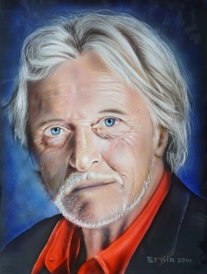 Dutch actor Rutger Hauer.