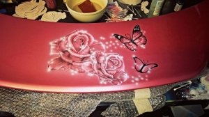 the spoiler, Airbrush roses and butterflies